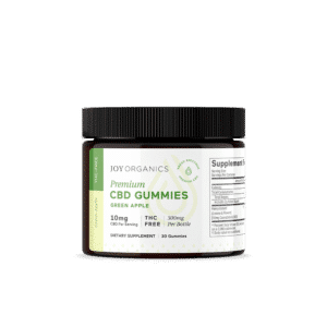 Joy Organics CBD Gummies Green Apple 300mg Bottle