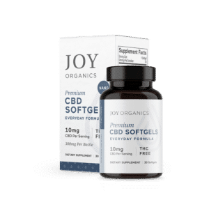 Joy Organics CBD Softgels 300mg Bottle