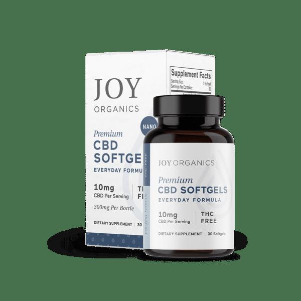 Joy Organics CBD Softgels 300mg Bottle