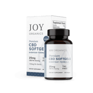 Joy Organics CBD Softgels 750mg Bottle