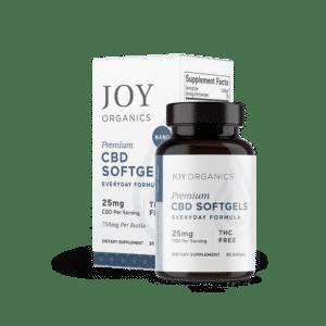 Joy Organics CBD Softgels 750mg Bottle