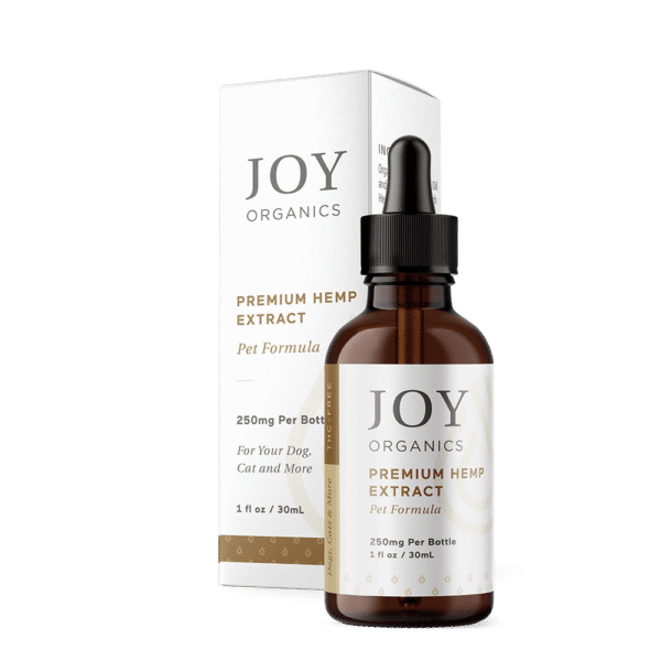 Joy Organics CBD Oil Tincture For Pets 250mg Bottle