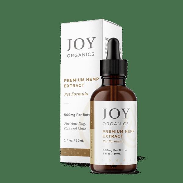 Joy Organics CBD Oil Tincture For Pets 500mg Bottle